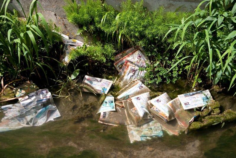 污染垃圾 免版税库存图片