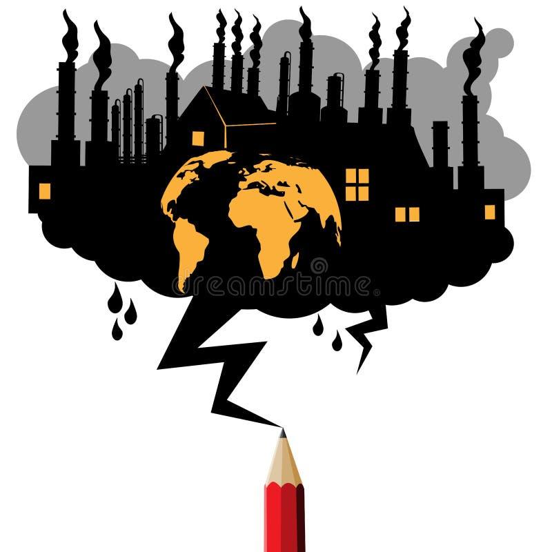 污染工业概念 库存例证