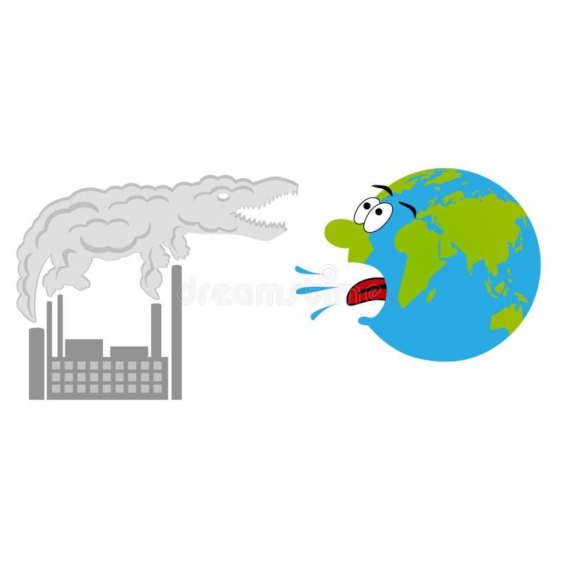 污染概念动画片地球 库存例证