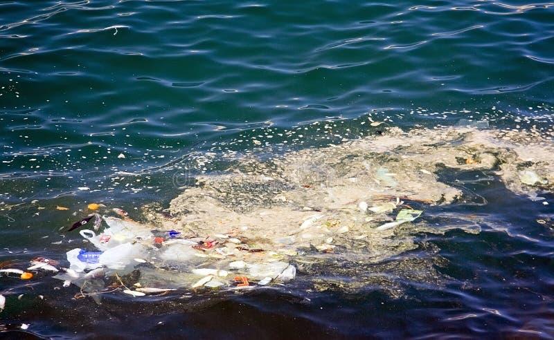 污染海运 免版税库存照片