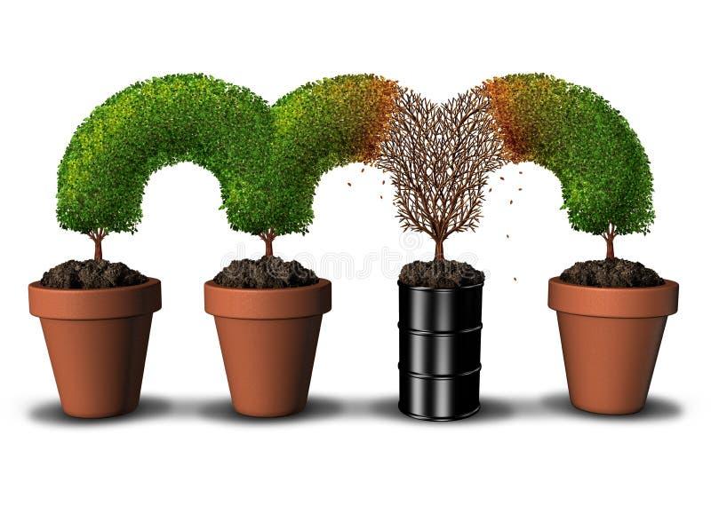 污染的环境概念 库存例证