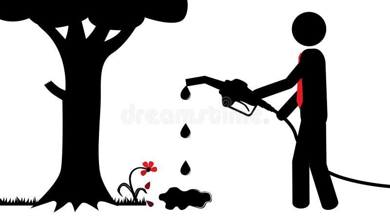 污染自然 库存例证