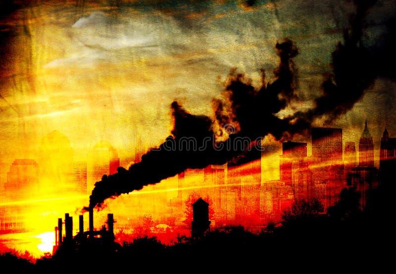 污染 皇族释放例证
