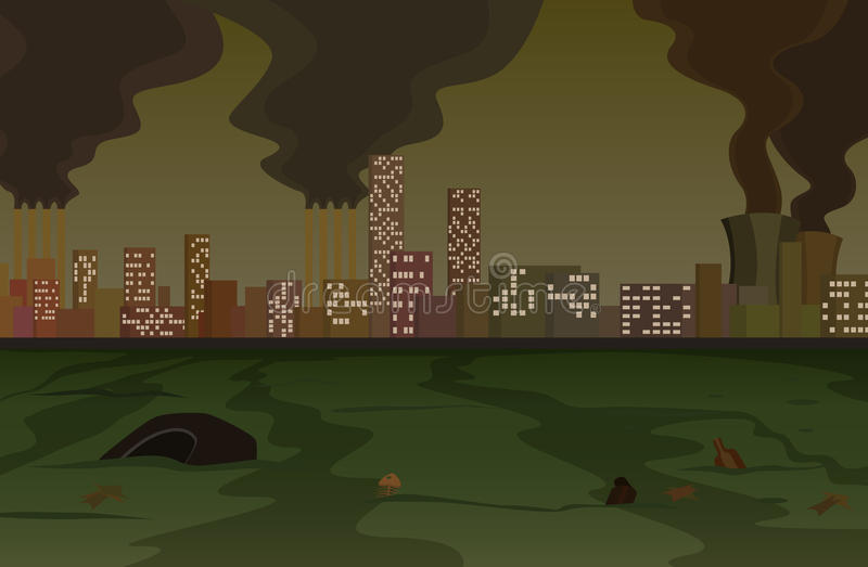 污染 向量例证