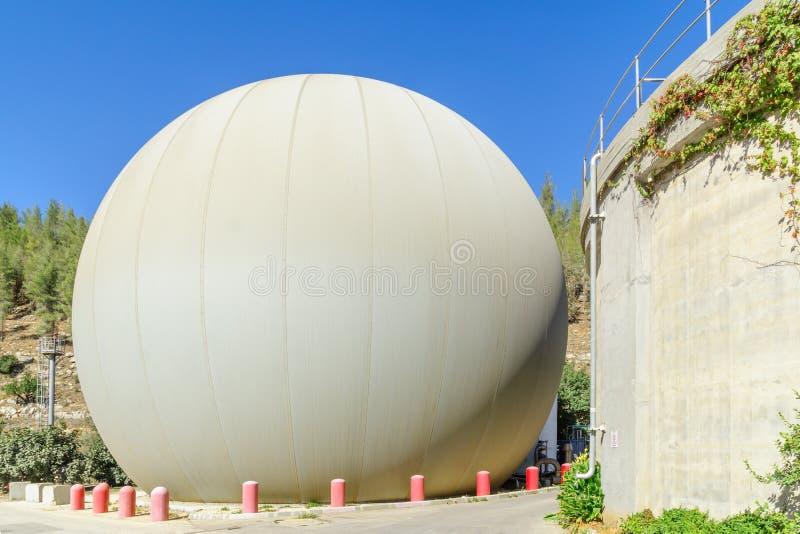 污水处理厂, Sorek谷的 免版税库存图片