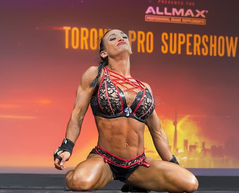 污水道健身冠军在2018年多伦多执行赞成Supershow 库存照片