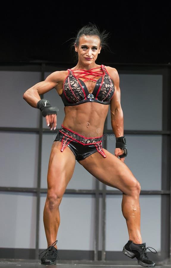 污水道健身冠军在2018年多伦多执行赞成Supershow 免版税图库摄影