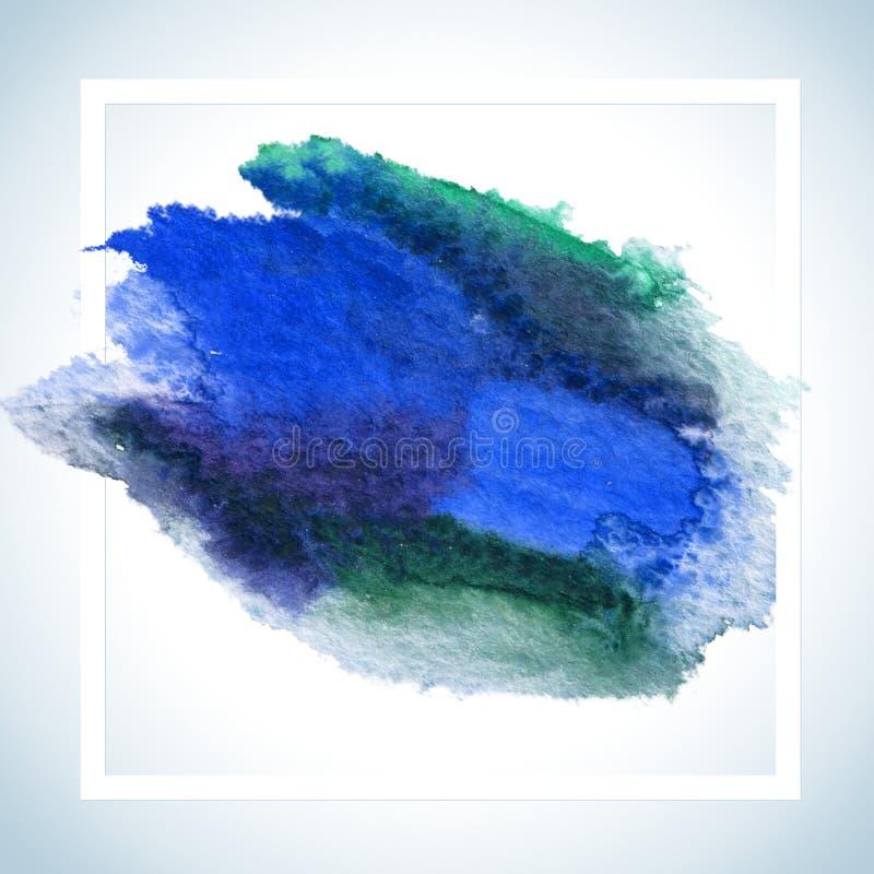 绘污点卡片光栅设计 水彩冲程海报模板FOT发短信给字法或激动人心的说法 库存例证