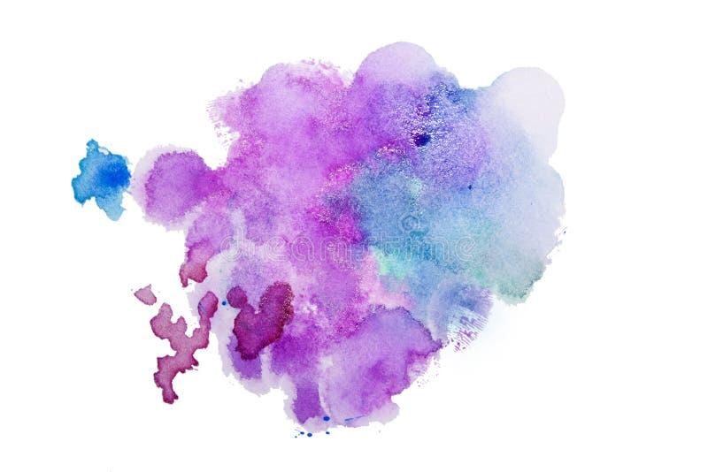污点水彩飞溅 水彩博士的五颜六色的例证 向量例证