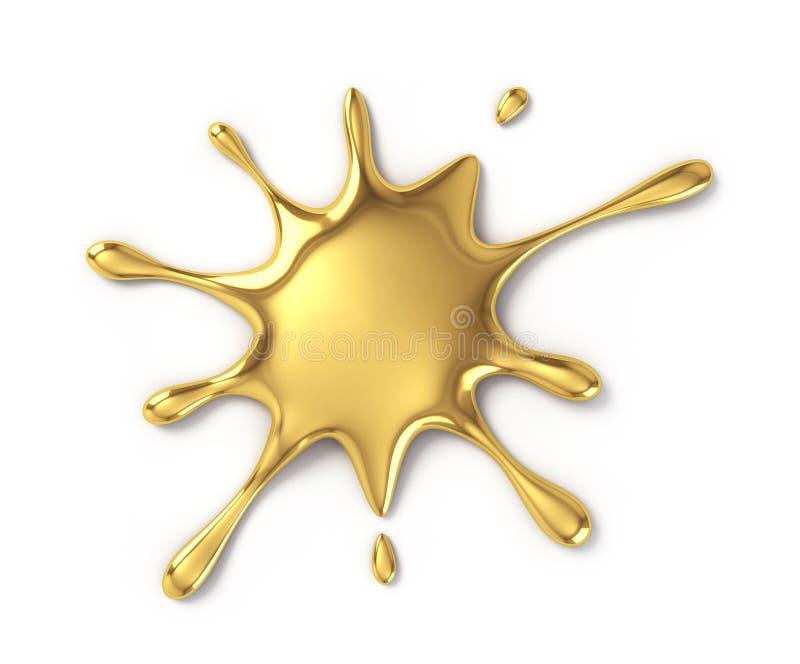 污点金子 向量例证