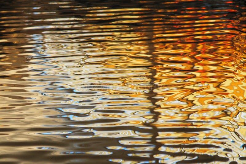 污迹玻璃窗在游泳池反射了在La鱼的艺术馆和产业,鲁贝法国 库存照片