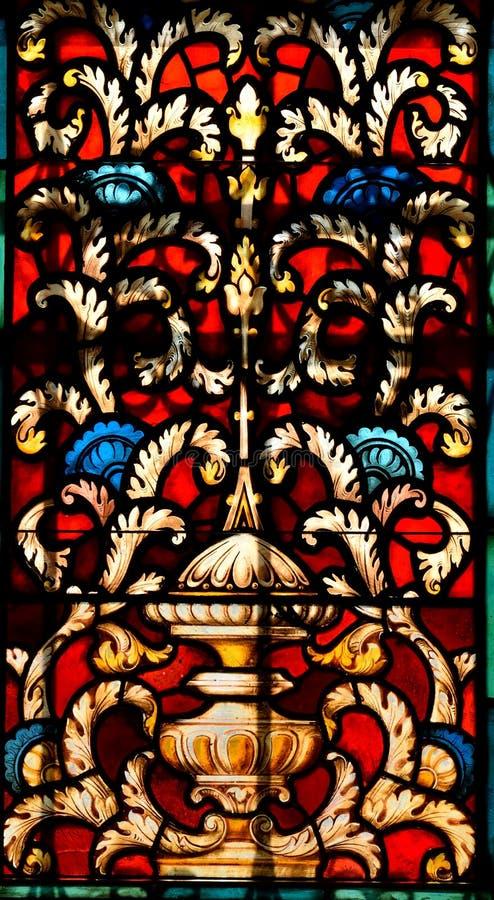 污迹玻璃窗,大教堂圣奥斯丁,佛罗里达 免版税库存照片