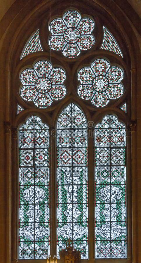 污迹玻璃窗,德国 免版税库存照片