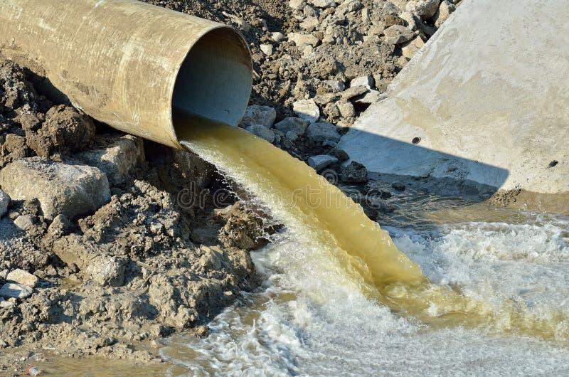 污水溢出 免版税库存图片