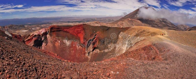 汤加里罗NP独特的火山的风景Panoramatic视图在新西兰 免版税图库摄影