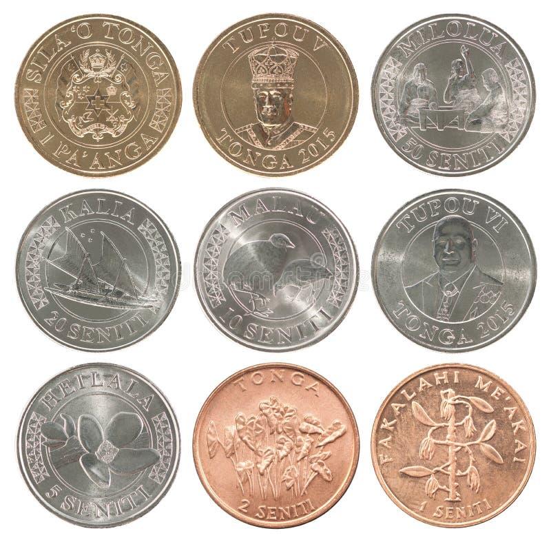 汤加paanga硬币 库存照片