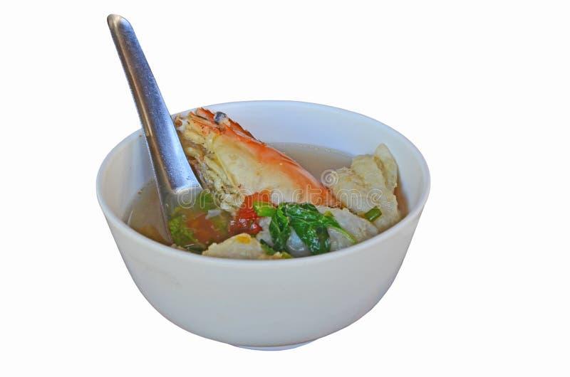 汤姆薯类有生来有福的Kung杯子在白色背景 免版税库存图片