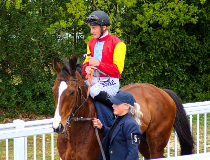 汤姆马昆德 赛马骑师 库存照片