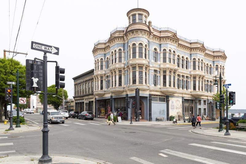 汤森港历史的海斯廷斯大厦 库存图片