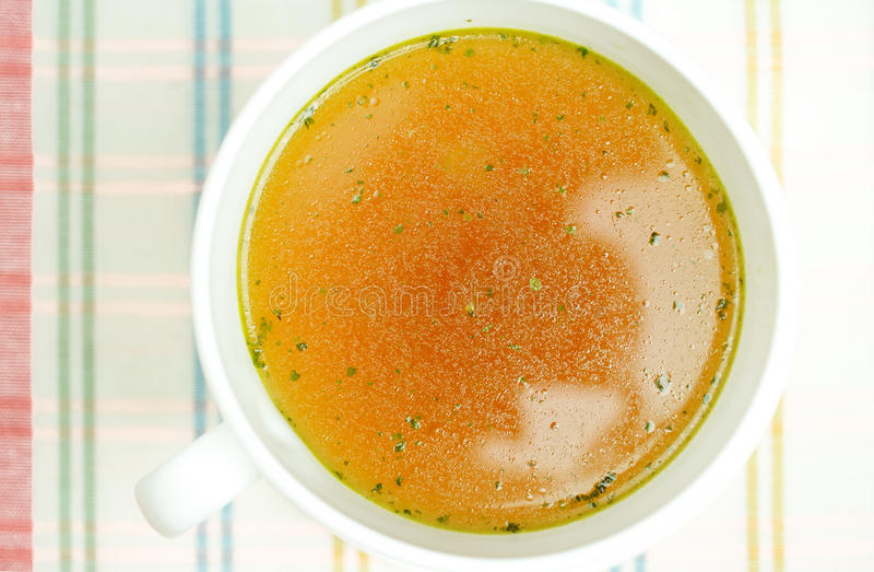 汤,肉汤,纯净汤 库存图片