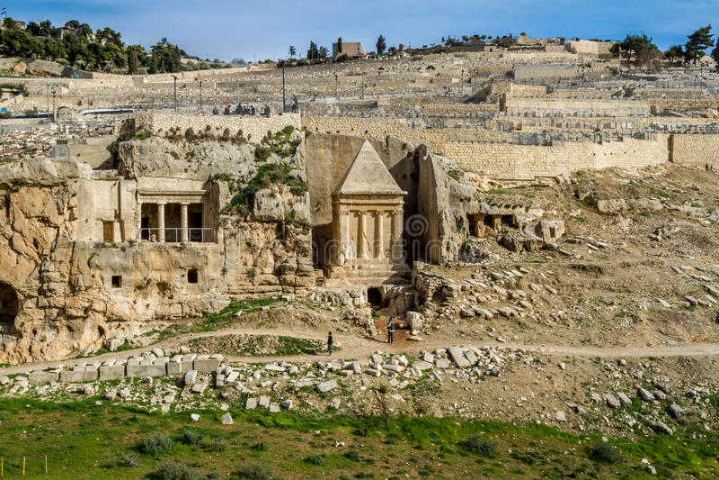 汲沦谷,耶路撒冷 库存照片