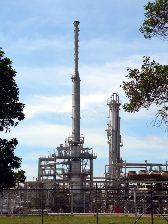 汶莱原油精炼厂 免版税库存照片