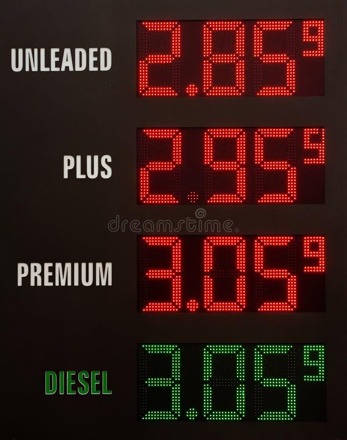汽油价格 库存照片