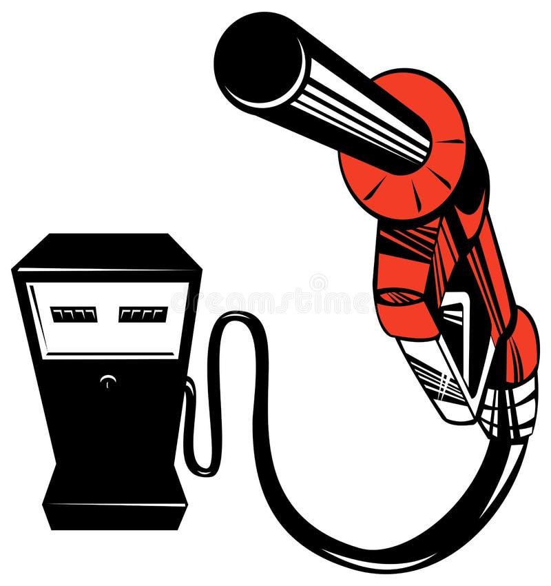 汽油喷管泵 皇族释放例证