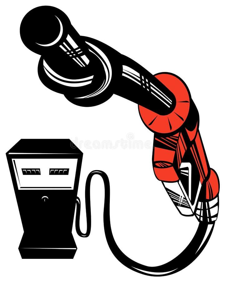 汽油喷管泵 向量例证