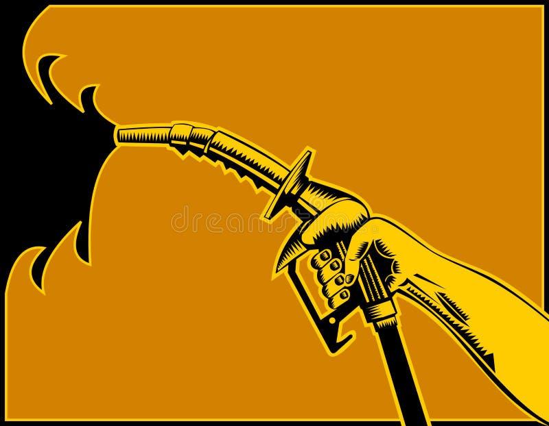 汽油喷管泵 库存例证