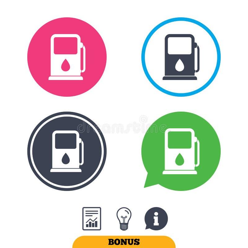 汽油或加油站象 汽车燃料标志 库存例证