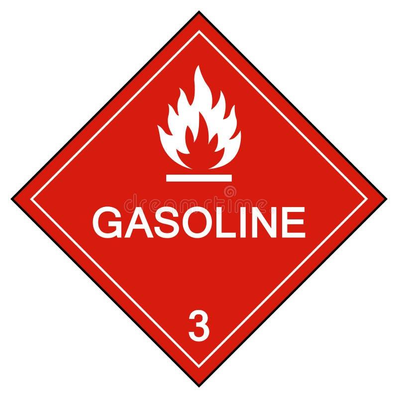 汽油标志在白色背景,传染媒介例证EPS的标志孤立 10 库存例证