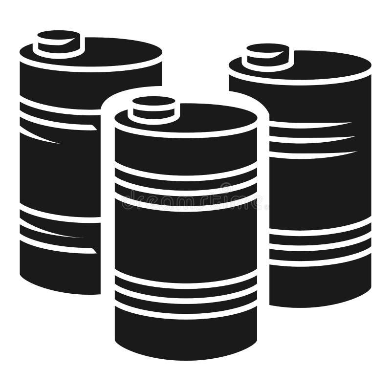 汽油桶堆象,简单的样式 库存例证