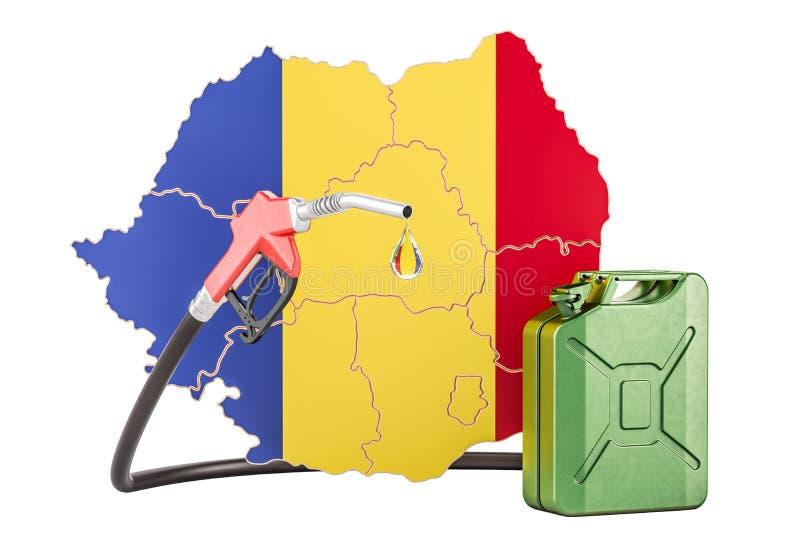 汽油生产和贸易在罗马尼亚,概念 3d翻译 库存例证
