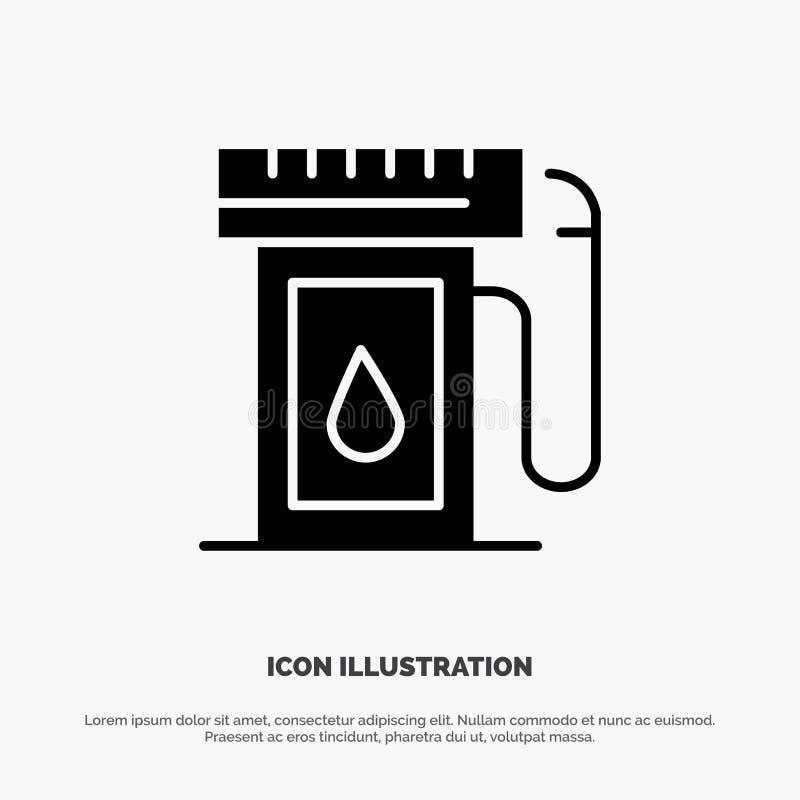汽油,产业,油,下落坚实纵的沟纹象传染媒介 皇族释放例证