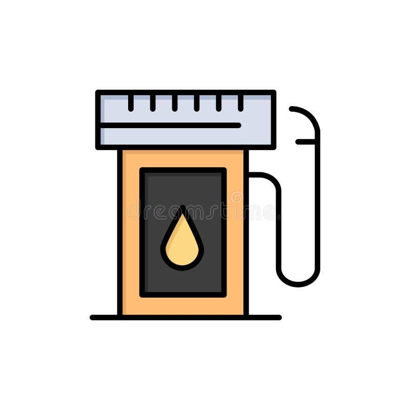 汽油,产业,油,下落平的颜色象 传染媒介象横幅模板 皇族释放例证