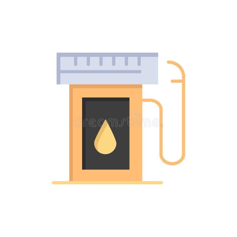 汽油,产业,油,下落平的颜色象 传染媒介象横幅模板 库存例证