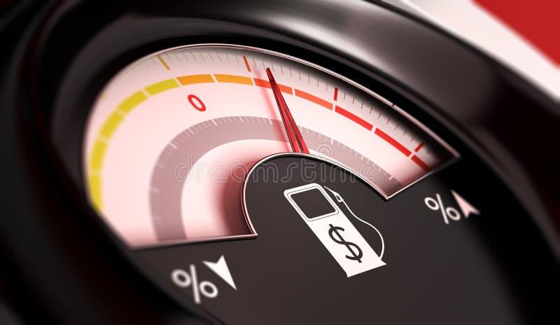 汽油价格上涨 库存例证