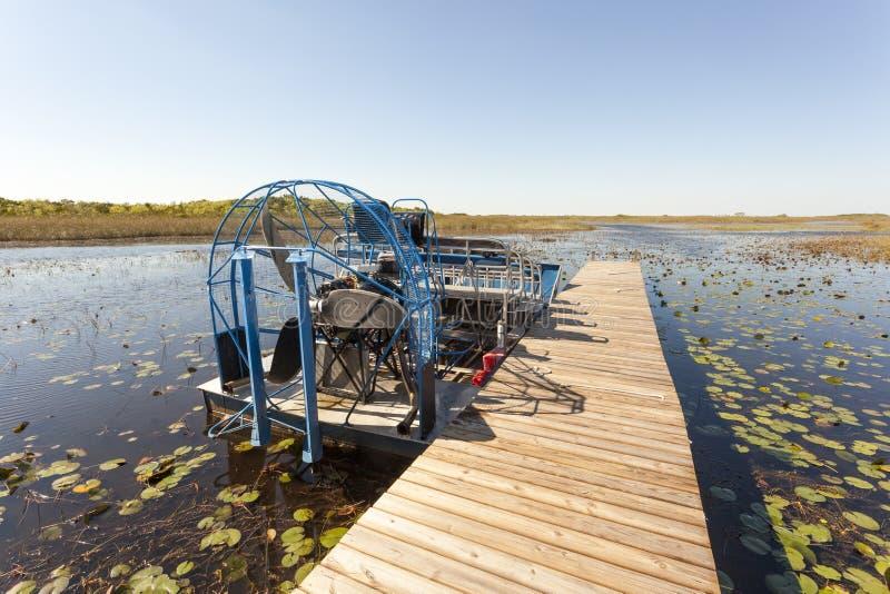 汽船在沼泽地,佛罗里达 库存图片