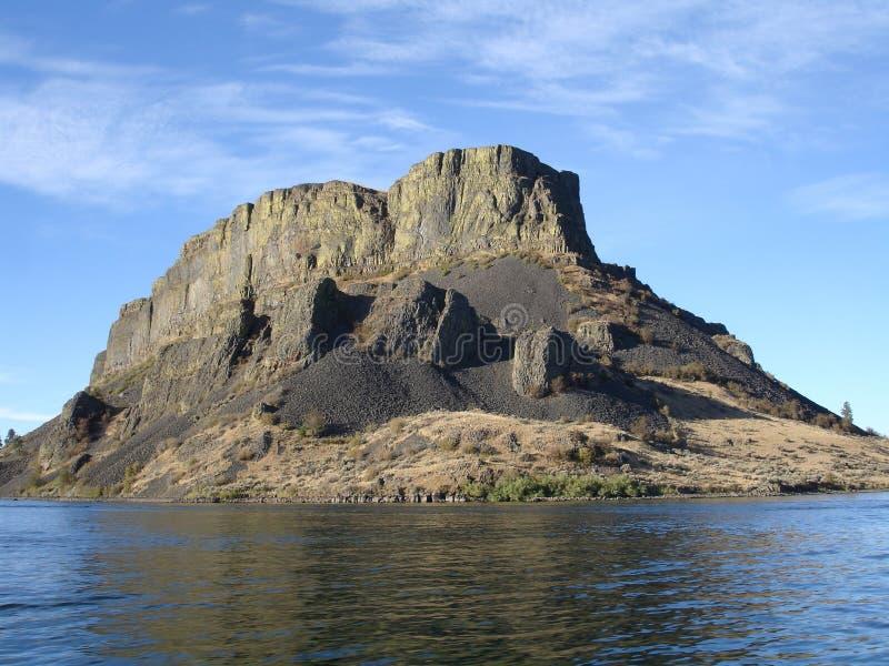 汽船岩石华盛顿州 库存照片