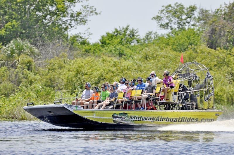 汽船StJohn河乘驾游览在佛罗里达,美国 免版税库存照片