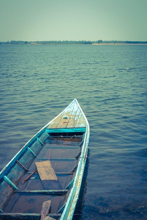 汽艇在河 库存照片