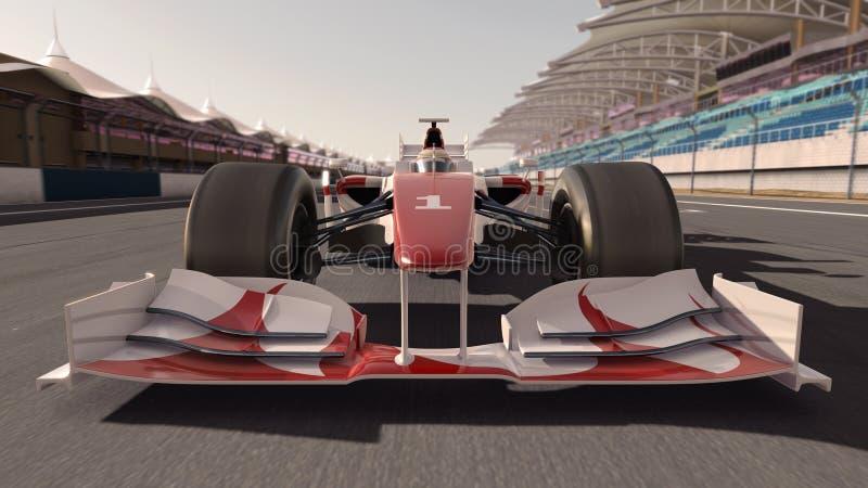 汽车一级方程式赛车 皇族释放例证