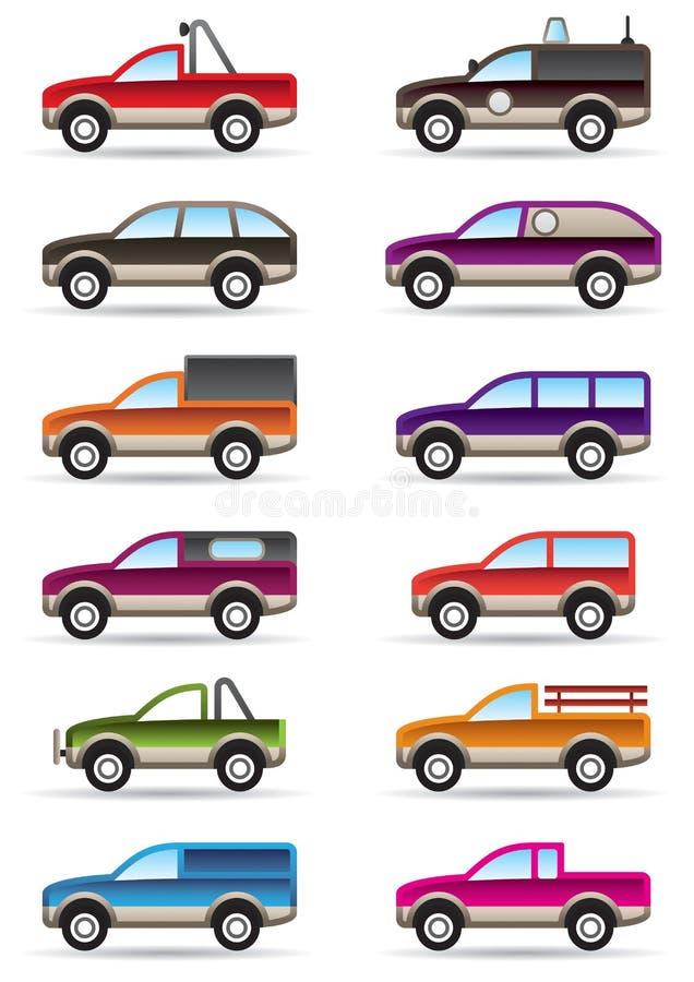汽车不同路suv 库存例证