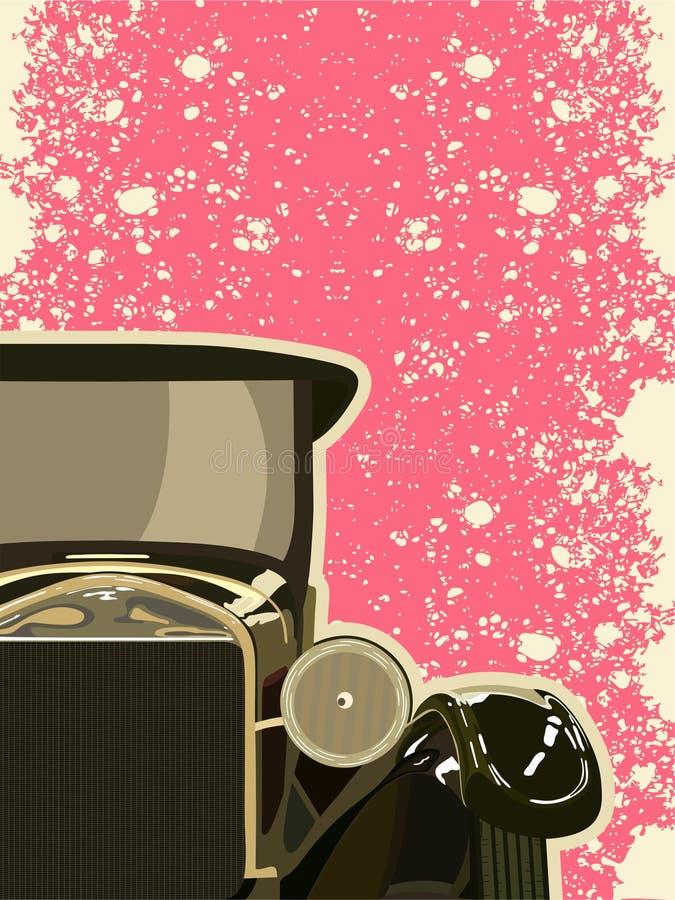 汽车世纪为时第二十葡萄酒岁月 向量例证