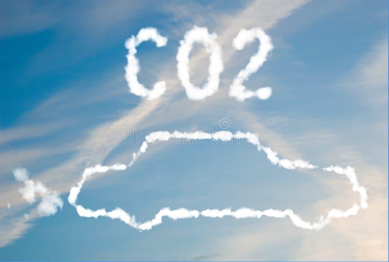汽车二氧化碳排放 免版税图库摄影