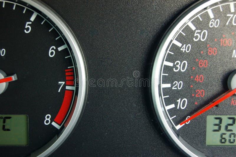 汽车仪表盘 库存图片