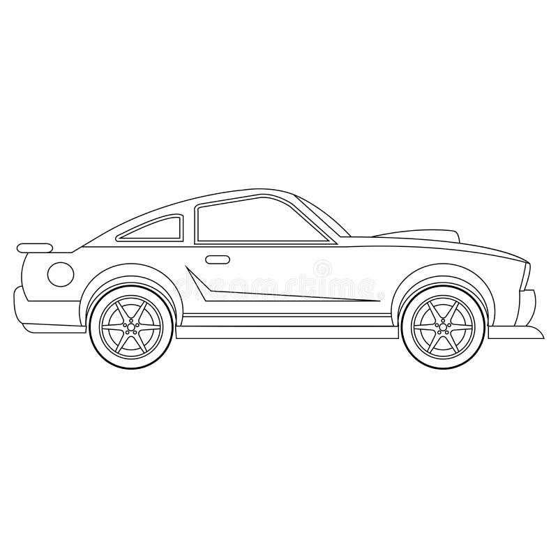 汽车传染媒介汽车着色页 库存例证