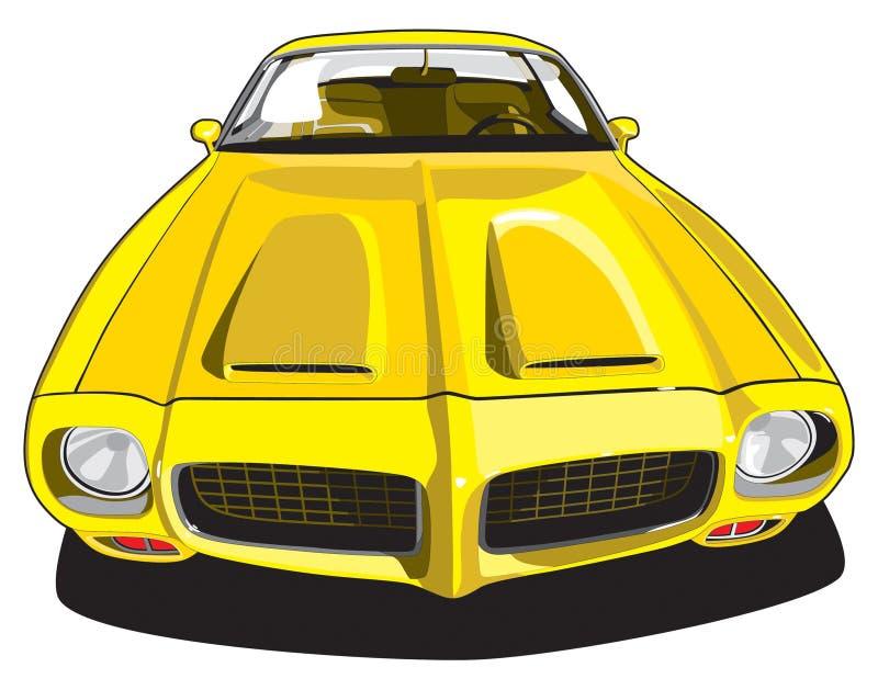 汽车体育运动黄色 向量例证