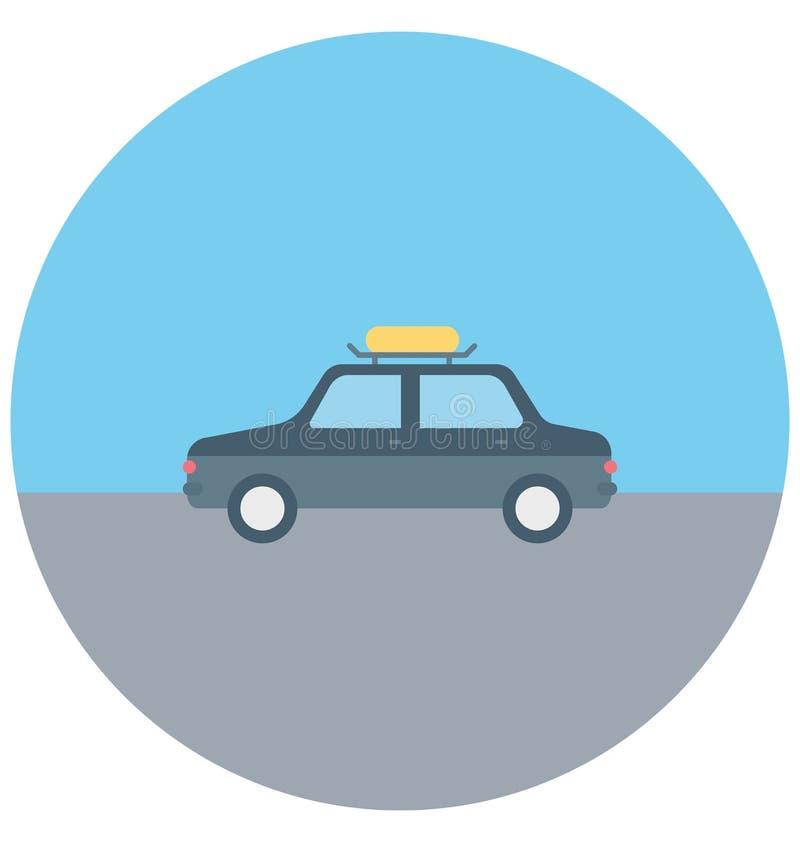 汽车例证颜色传染媒介休闲、旅行和游览的被隔绝的象容易的编辑可能和特别用途 皇族释放例证